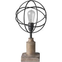 Décor 140 Henslowe 9.75x9.75x18 Indoor Table Lamp- Brown
