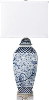 Décor 140 Texla 13x13x29.5 Indoor Table Lamp   Blue