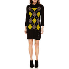 Studio 1 Embellished 3/4 Sleeve Sweater Dress-Petites