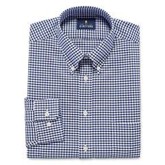 Stafford Long Sleeve Oxford Gingham Dress Shirt