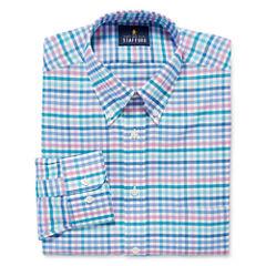 Stafford Long Sleeve Oxford Checked Dress Shirt