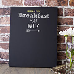 Cathy's Concepts Personalized Breakfast Menu Chalkboard