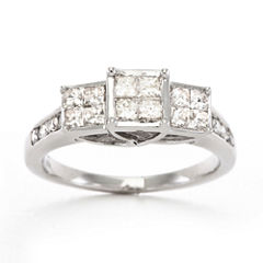 1 CT. T.W. Diamond Ring 10K White Gold