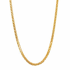 14K Yellow Gold Diamond-Cut Wheat Chain 20