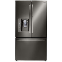 LG ENERGY STAR® 29.6 cu. ft. Super Capacity 3-Door French Door Refrigerator with Door-in-Door Design - Black Stainless