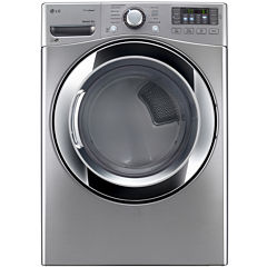 LG ENERGY STAR®  7.4 cu. ft. Ultra Large Capacity Electric Steam Dryer with NFC Tag On