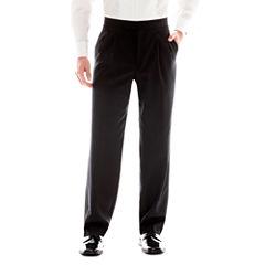 Stafford® Pleated Tuxedo Pants