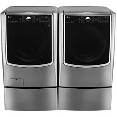 LG Gas Washer and Dryer Package with Pedestals