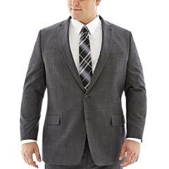 Claiborne® Charcoal Herringbone Suit Jacket–Big & Tall