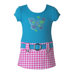Lilt Short Sleeve Cap Sleeve Dress - Baby Girls