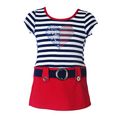 Lilt Short Sleeve Cap Sleeve Dress - Baby Girls