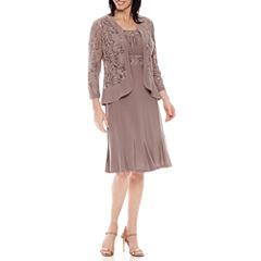 R & M Richards Long Sleeve Jacket Dress