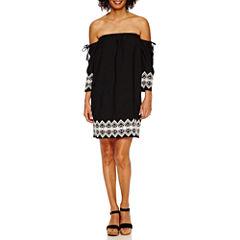 Roxberi Off Shoulder Peasant Dress