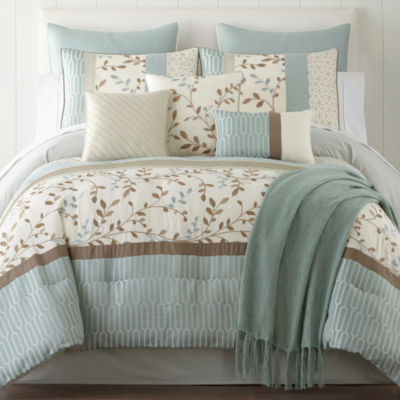 home expressions hampton 10pc comforter set u0026 accessories