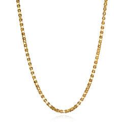 14K Yellow Gold Diamond-Cut Popcorn 18