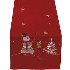 Snowman Embroidered Table Runner