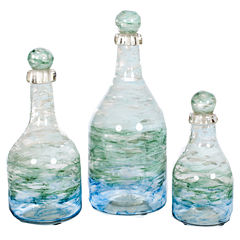 Knox And Harrison Ocean Glass Decorative Bottles