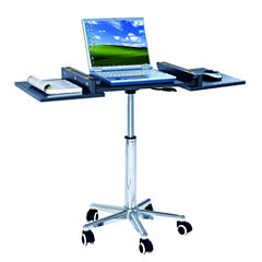 RTA Products LLC Techni Mobili Folding Table Laptop Cart Desk
