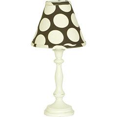 Cotton Tale Raspberry Dot Lamp