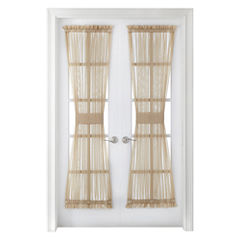 Liz Claiborne® Lisette Rod-Pocket Sheer Door Panel