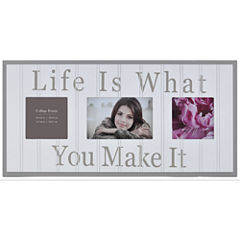 Burnes of Boston® Life Is What You Make It 3-Opening Collage Picture Frame