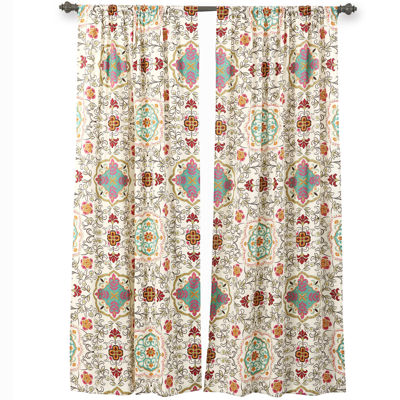 greenland home fashions esprit spice 2pack rodpocket curtain panels - Greenland Home Fashions
