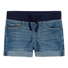 Arizona Knit At Waist Shortie Shorts - Preschool Girls