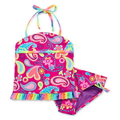 Breaking Waves Girls Paisley Tankini Set - Preschool