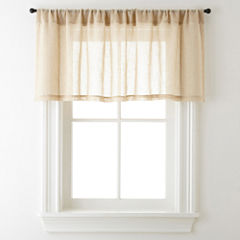 JCPenney Home™ Bayview Rod-Pocket Sheer Tailored Valance