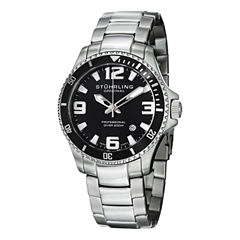 Stuhrling Mens Silver Tone Bracelet Watch-Sp12719