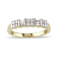 1/4 CT. T.W. Diamond 10K Yellow Gold Anniversary Ring