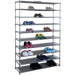 Home Basics 50-Pair Metal Shoe Shelf