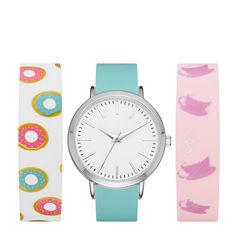 Mixit Womens Multicolor Strap Watch-Fmdjps097