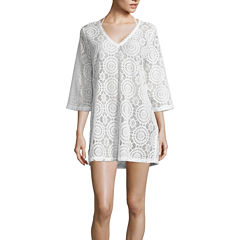 a.n.a V-Neck Crochet Coverup