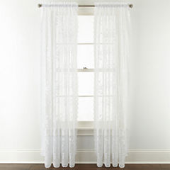 Home Expressions™ Jessica Lace Rod-Pocket 2-Pack Curtain Panels