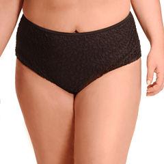 Paramour Brocade High Waist Swimsuit Bottom-Plus