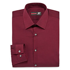 JF J.Ferrar Easy-Care Stretch Long Sleeve Broadcloth Dress Shirt Big & Tall