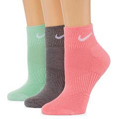 Nike 3 Pair Quarter Socks - Womens