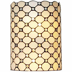 Amora Lighting AM041WL10 Tiffany Style Double-light Jeweled Wall Sconce Lamp