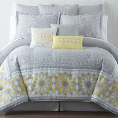 eva longoria home mireles 4pc comforter set - Cal King Comforter Sets