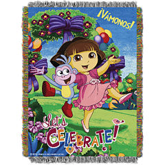 Nickelodeon Dora Tapestry Throw