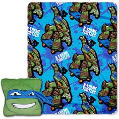 Teenage Mutant Ninja Turtles Leonardo Pillow and Throw Set