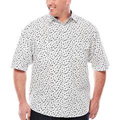 D'Amante Short-Sleeve Star Print Woven Shirt - Big & Tall