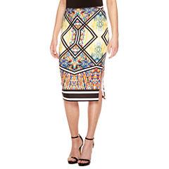 Bisou Bisou Side Slit Pencil Skirt