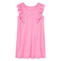 Okie Dokie Sleeveless Flutter Sleeve Sundress - Preschool Girls