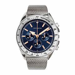 Rocawear Mens Silver Tone Bracelet Watch-Rm0106s1-082