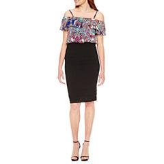 Nicole By Nicole Miller Off the Shoulder Blouson Dress
