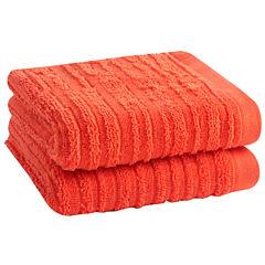 Loft By Loftex Cascading 2-Pc. Hand Towel Set