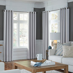 JCPenney Home Made-To-Length Textured Blackout Grommet-Top Unlined Curtain Panel