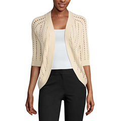Liz Claiborne Elbow Sleeve Cardigan